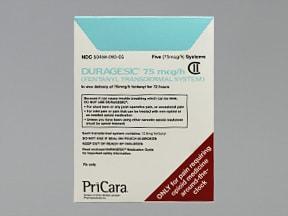 Duragesic 75 mcg/hr transdermal patch