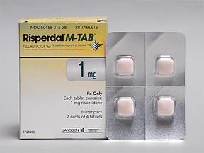 Risperdal M-TAB 1 mg disintegrating tablet