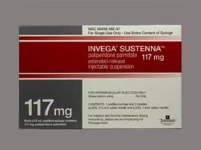 Invega Sustenna 117 mg/0.75 mL intramuscular syringe