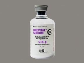 Brevital 2.5 gram solution for injection