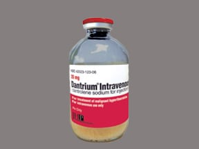 Dantrium 20 mg intravenous solution
