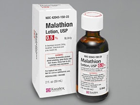 malathion 0.5 % lotion