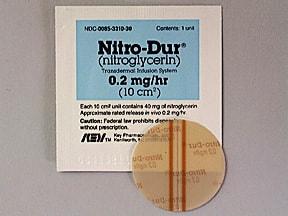 Nitro-Dur 0.2 mg/hr transdermal 24 hour patch