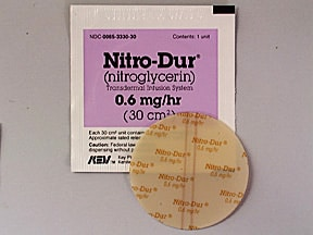 Nitro-Dur 0.6 mg/hr transdermal 24 hour patch