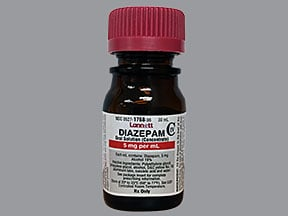 diazepam 5 mg/mL oral concentrate