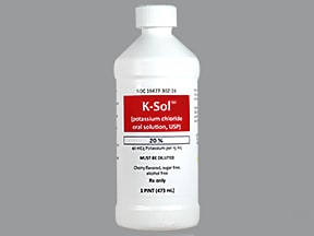 K-Sol 40 mEq/15 mL oral liquid