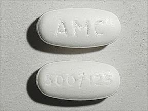 amoxicillin 500 mg-potassium clavulanate 125 mg tablet