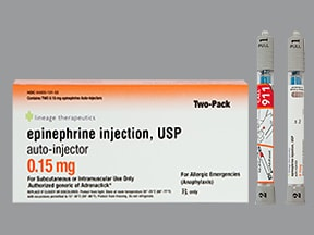 epinephrine 0.15 mg/0.15 mL injection,auto-injector