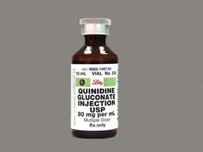 quinidine gluconate 80 mg/mL injection solution