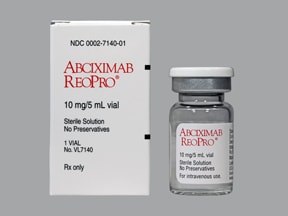 Reopro 10 mg/5 mL intravenous solution