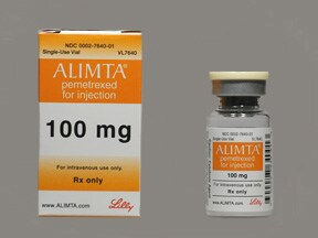 Alimta 100 mg intravenous solution