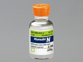 Humulin N 100 unit/mL subcutaneous suspension