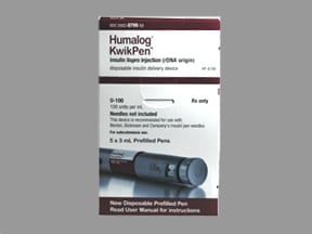 Humalog KwikPen 100 unit/mL subcutaneous