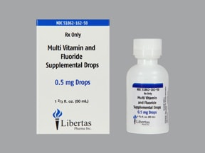 Multi-Vitamin With Fluoride 0.5 mg/mL oral drops