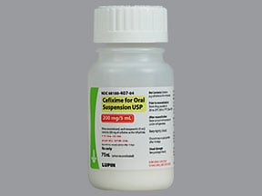 cefixime 200 mg/5 mL oral suspension