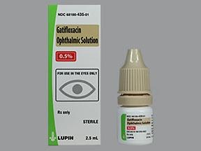 gatifloxacin 0.5 % eye drops