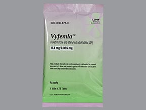 Vyfemla (28) 0.4 mg-35 mcg tablet