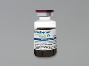 Feraheme 510 mg/17 mL (30 mg/mL) intravenous solution