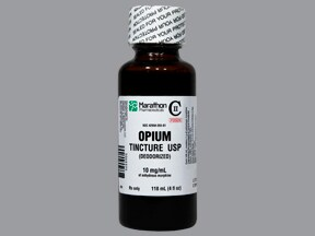 opium tincture 10 mg/mL (morphine) oral