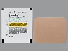 clonidine 0.3 mg/24 hr weekly transdermal patch