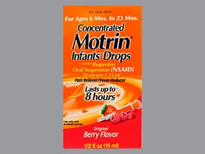Infant's Motrin 50 mg/1.25 mL oral drops,suspension