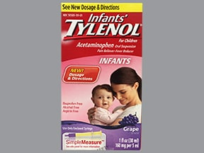 Infant's Tylenol 160 mg/5 mL oral suspension