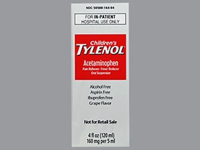 Children's Tylenol 160 mg/5 mL oral suspension