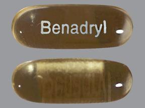 Benadryl 25 mg capsule