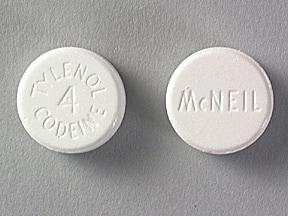 Tylenol-Codeine #4 300 mg-60 mg tablet