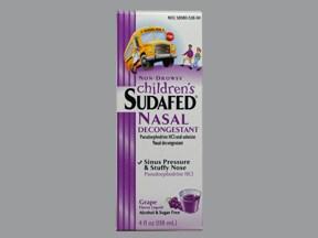 Children's Sudafed 15 mg/5 mL oral liquid