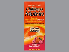 Children's Motrin 100 mg/5 mL oral suspension
