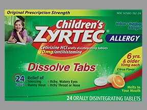 Children's Zyrtec Allergy 10 mg disintegrating tablet