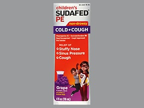 Children's Sudafed PE Cough and Cold 2.5 mg-5 mg/5 mL oral liquid