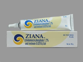 Ziana 1.2 %-0.025 % topical gel