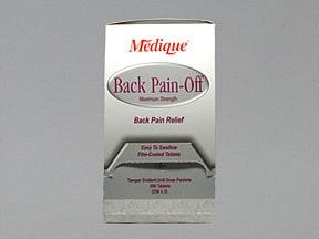 Back Pain-Off 290 mg-250 mg-50 mg tablet