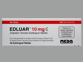 Edluar 10 mg sublingual tablet