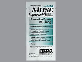 Muse 250 mcg urethral suppository