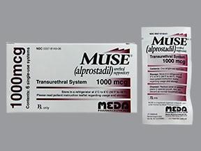Muse 1,000 mcg urethral suppository