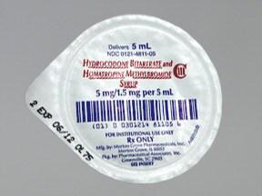 hydrocodone-homatropine 5 mg-1.5 mg/5 mL (5 mL) syrup