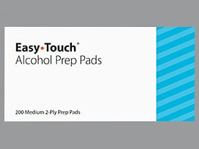 Easy Touch Alcohol Prep Pads