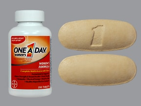 One-A-Day Womens Formula 18 mg iron-400 mcg-500 mg Ca tablet