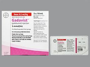 Gadavist 10 mmol/10 mL (1 mmol/mL) intravenous syringe