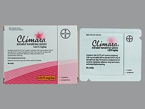 Climara 0.0375 mg/24 hr transdermal patch