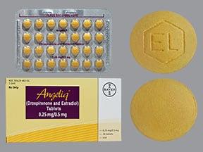 Angeliq 0.25 mg-0.5 mg tablet