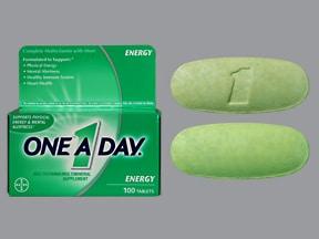 One-A-Day Energy 9 mg iron-400 mcg-200 mg tablet