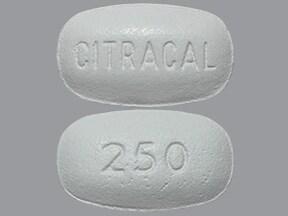 Citracal Regular 250 mg calcium-200 unit tablet