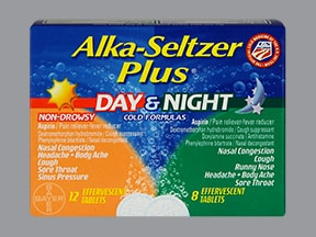 Alka-Seltzer Plus Day-Night 7.8-325 mg(dy)/6.25-500 mg(nt) effervs.tab