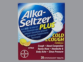 Alka-Seltzer Plus C/C(PE,DM) 2 mg-7.8 mg-10 mg-325 mg efferves. tablet