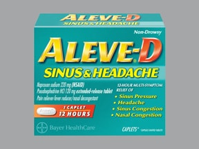 Aleve-D Sinus and Headache 220 mg-120 mg tablet,extended release