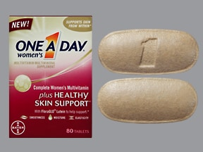 One-A-Day Women's Healthy Skin 18 mg iron-400 mcg-6 mg tablet